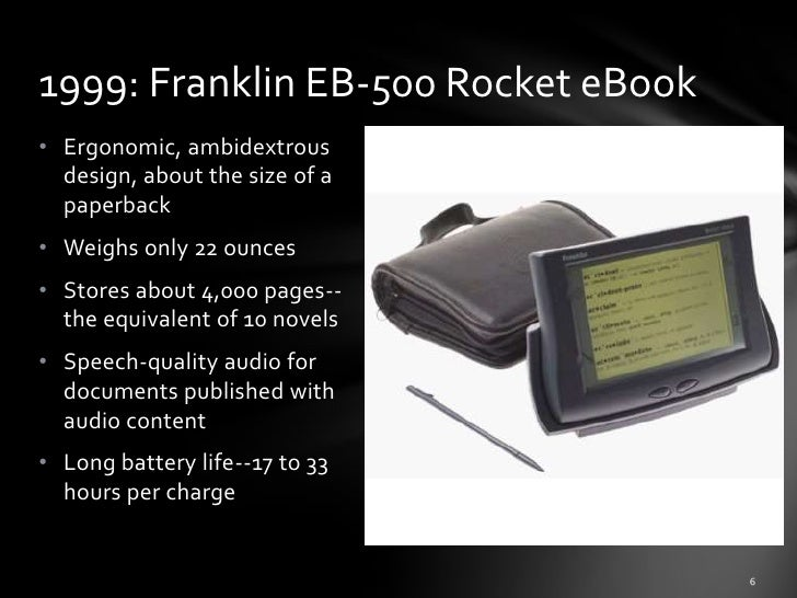 History of e books & ereaders