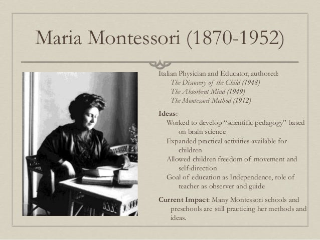 maria montessori when and why did peace curriculum develop Forcing a child to study a rigid curriculum throughout the years children aged two need to develop through play and not the maria montessori training.