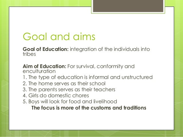 aims of education ppt