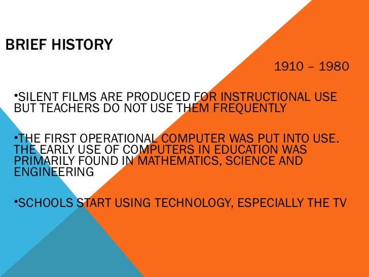 history of ict The use of ict in the history classroom in these pages we hope to draw together and share resources for the innovative use of ict in the history classroom to.