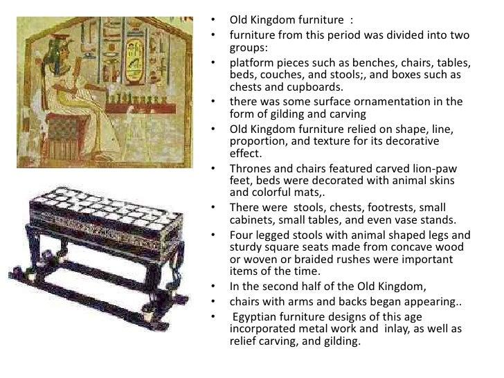 ... 8. Old Kingdom Furniture ...