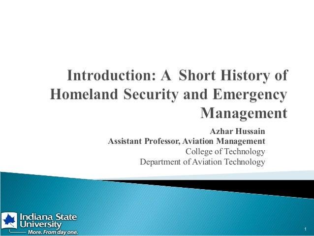 Azhar Hussain Assistant Professor, Aviation Management College of Technology Department of Aviation Technology  1