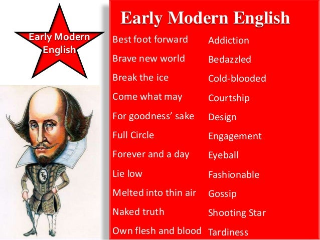 Early Modern               Late Modern English               • The industrial and scientific revolutions   English       c...