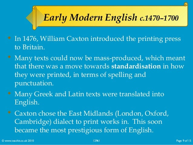 summary of history of english language The spread of english across the globe: social, political and cultural factors a history of british rule that gave english had english-language.
