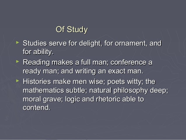 english essays reading makes a man perfect Essays - largest database of quality sample essays and research papers on reading makes a man perfect essay.