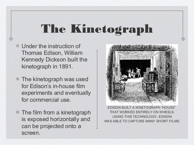 the history of motion pictures Sometimes one invention might give you an idea for making something else that is what happened to thomas edison with motion pictures in october 1888 edison wrote.