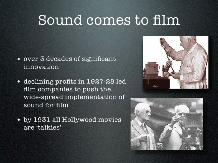 History of sound in film essay