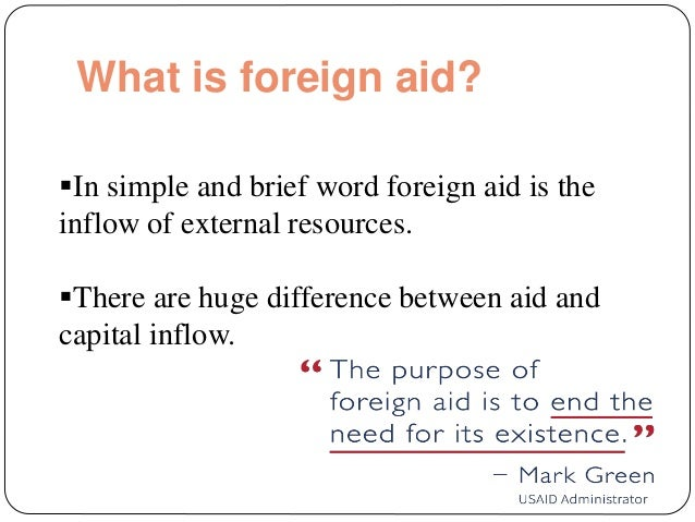 definition of foreign aid pdf