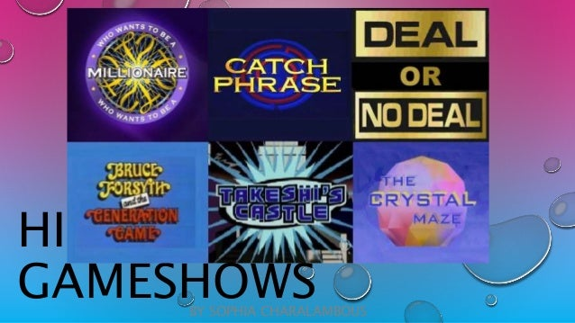 Game shows list
