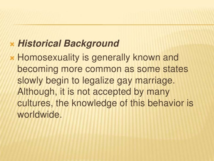 Historical background of homosexuality