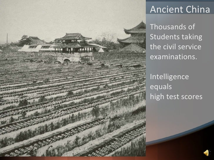 Ancient China Civil Service : History of gifted education
