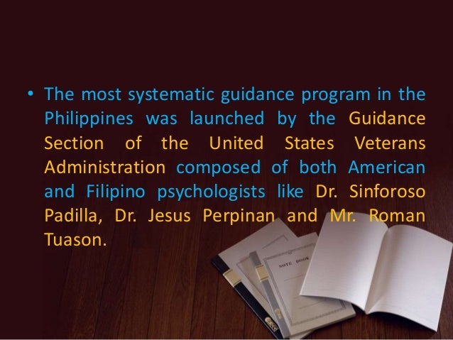 history of guidance and counseling in the philippines Guidance history in the philippines 1913 : vocational guidance is the first : occupational and  3 1935-45 :guidance and counseling service in the schools.