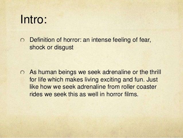 Extension task: History of horror films
