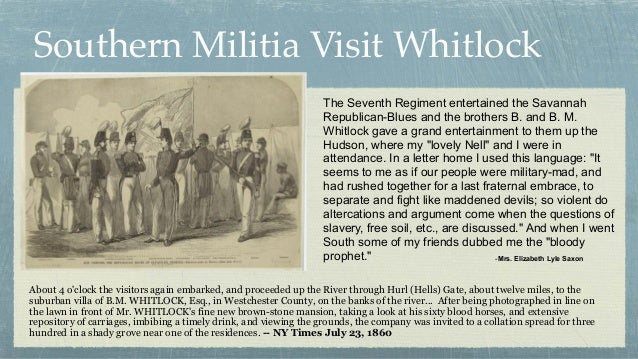 Southern Militia Visit Whitlock About 4 o'clock the visitors again embarked, and proceeded up the River through Hurl (Hell...