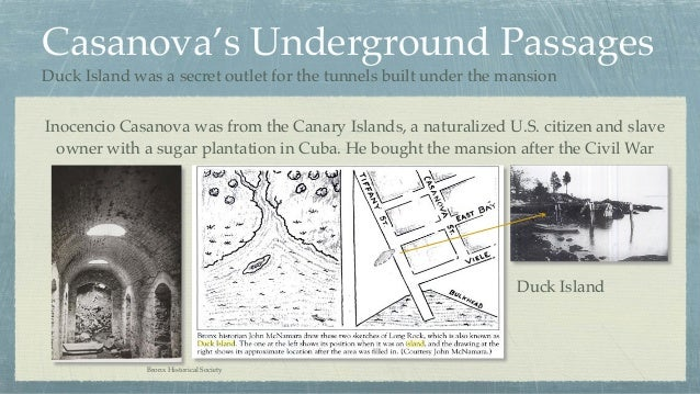 Casanova's Underground Passages Inocencio Casanova was from the Canary Islands, a naturalized U.S. citizen and slave owner...
