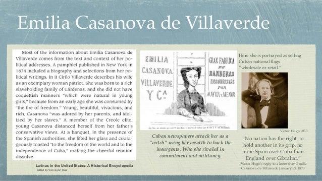 Emilia Casanova de Villaverde Latinas in the United States: A Historical Encyclopedia edited by Vicki Lynn Ruiz Cuban news...