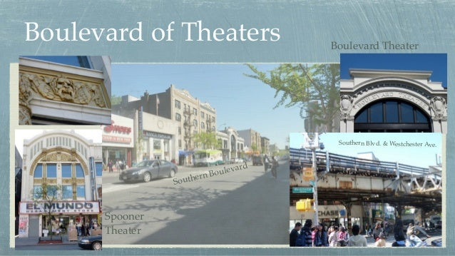 Boulevard of Theaters Southern Boulevard Spooner Theater Southern Blvd. & Westchester Ave. Boulevard Theater