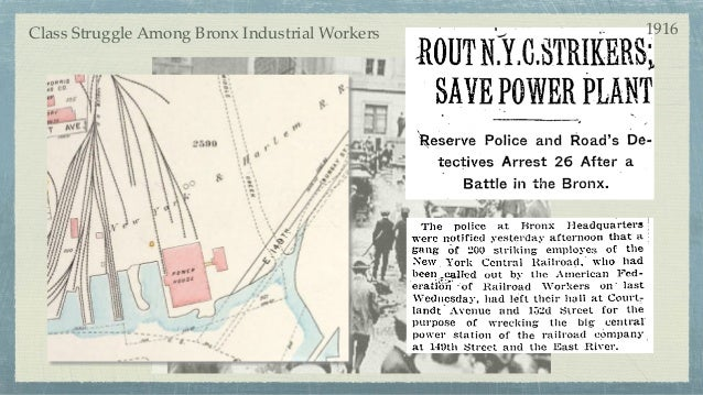 Class Struggle Among Bronx Industrial Workers 1916