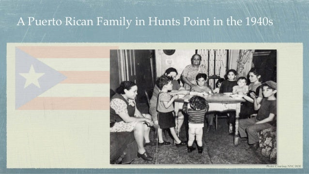 A Puerto Rican Family in Hunts Point in the 1940s Photo: Courtesy NYC DOE