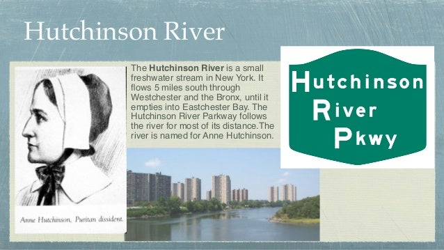 Hutchinson River The Hutchinson River is a small freshwater stream in New York. It flows 5 miles south through Westchester ...