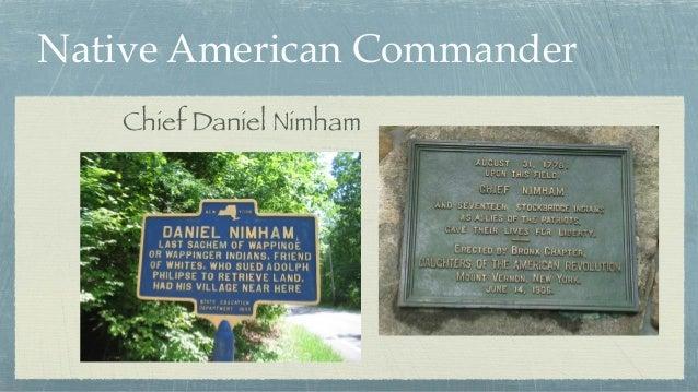 Native American Commander Chief Daniel Nimham