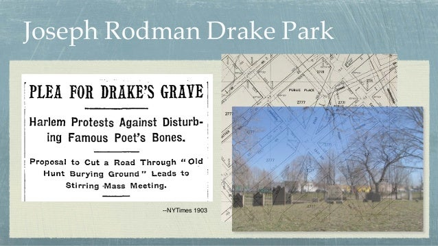 Joseph Rodman Drake Park --NYTimes 1903