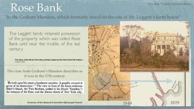 Rose Bank The Leggett family retained possession of the property which was called Rose Bank until near the middle of the l...