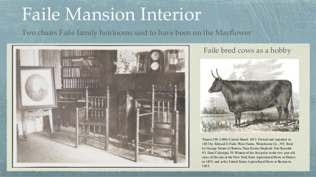 Faile Mansion Interior Two chairs Faile family heirlooms said to have been on the Mayflower Titania 358 (1084) Calved March...