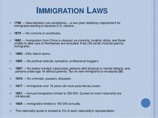 History Of U S Naturalization And Immigration