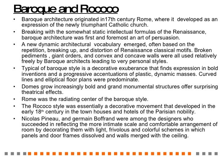 History of interior design 3 for Difference between baroque and rococo