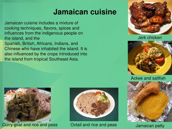 Jamaican culture food images for Cuisine history