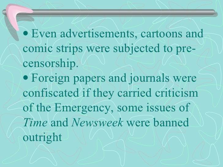   Even advertisements, cartoons and comic strips were subjected to pre-censorship.  Foreign papers and jour...