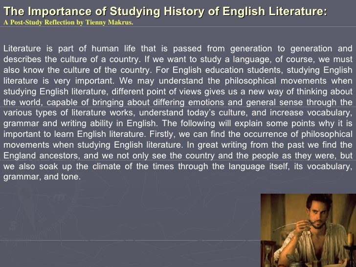 The importance of learning history through literature