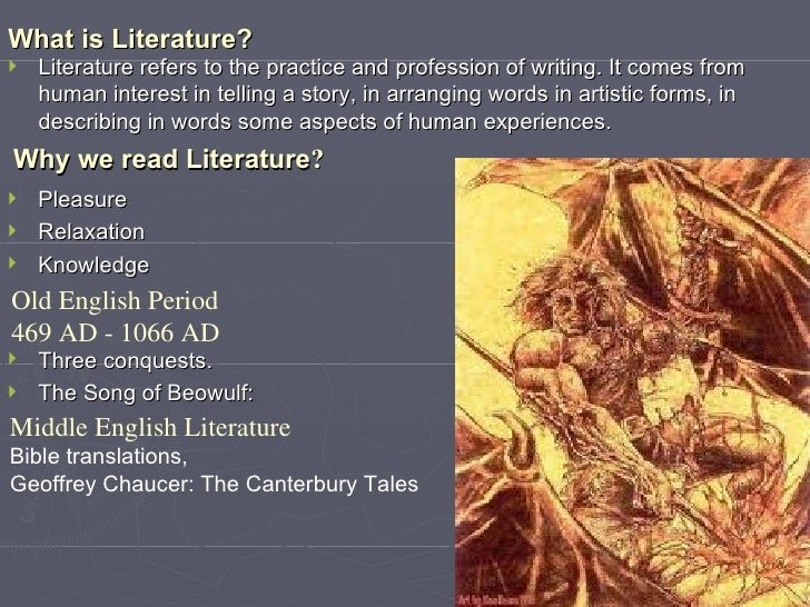 aspects of language in literature