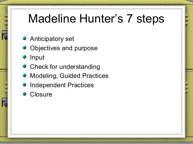 Madeline Hunter Lesson Plan Template Madeline Instructional - Madeline hunter lesson plan template word