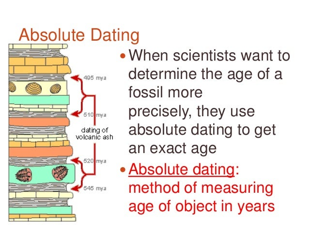 relative and absolute dating activity group