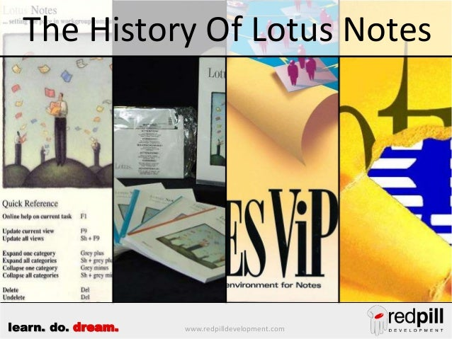 The History Of Lotus Notes  learn. do. dream.  www.redpilldevelopment.com