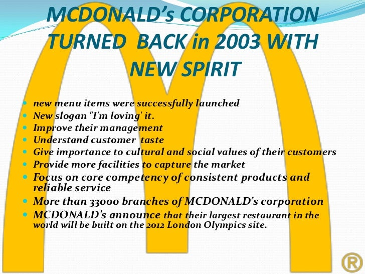mcdonalds history Generally, mcdonalds is recognized as one of the most successful and best known brands worldwide they are well-known worldwide because of their famous fast food, .