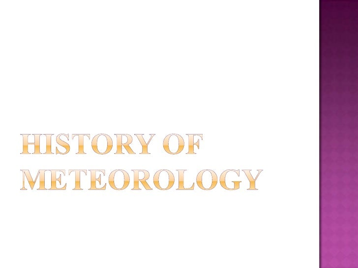 History of meteorology<br />