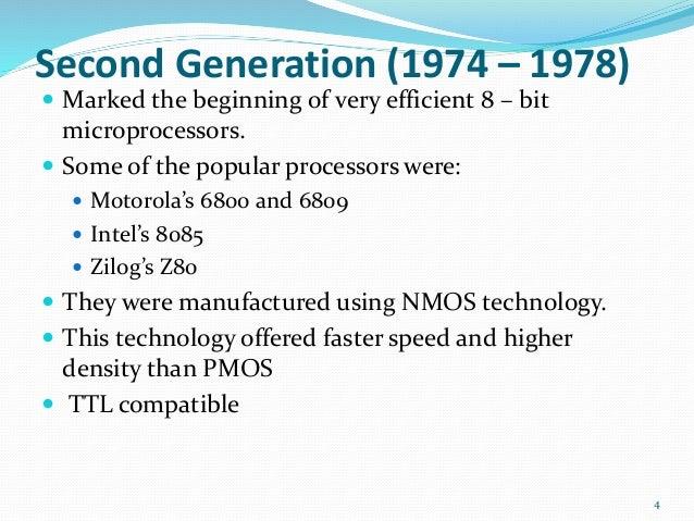 brief history of microprocessor