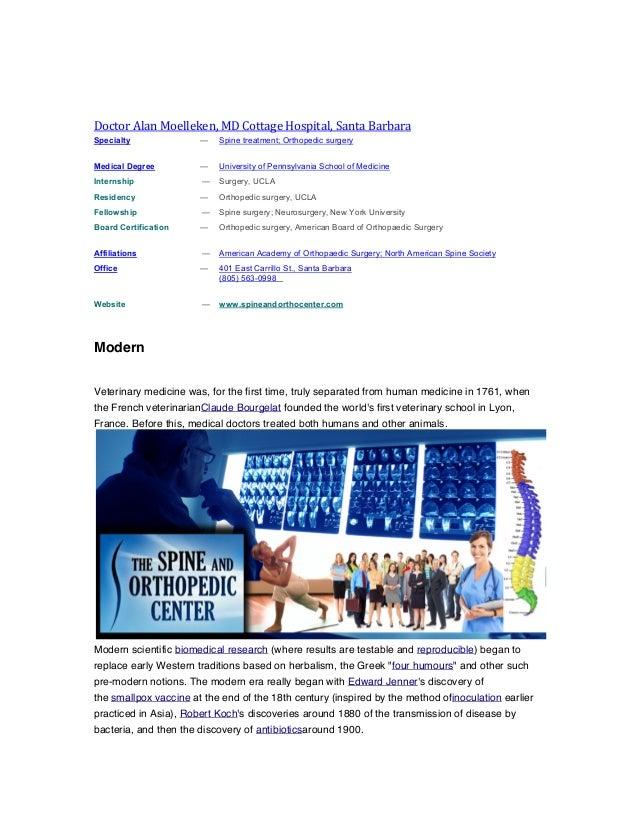 Doctor  Alan  Moelleken,  MD  Cottage  Hospital,  Santa  Barbara   Specialty  —  Spine treatment; O...