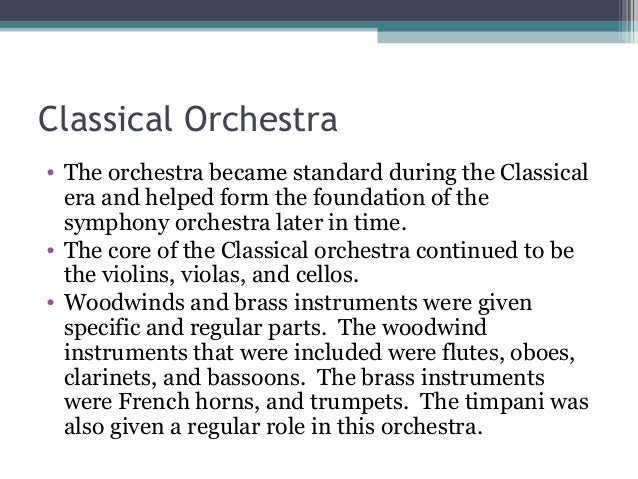 Clarinets in orchestras