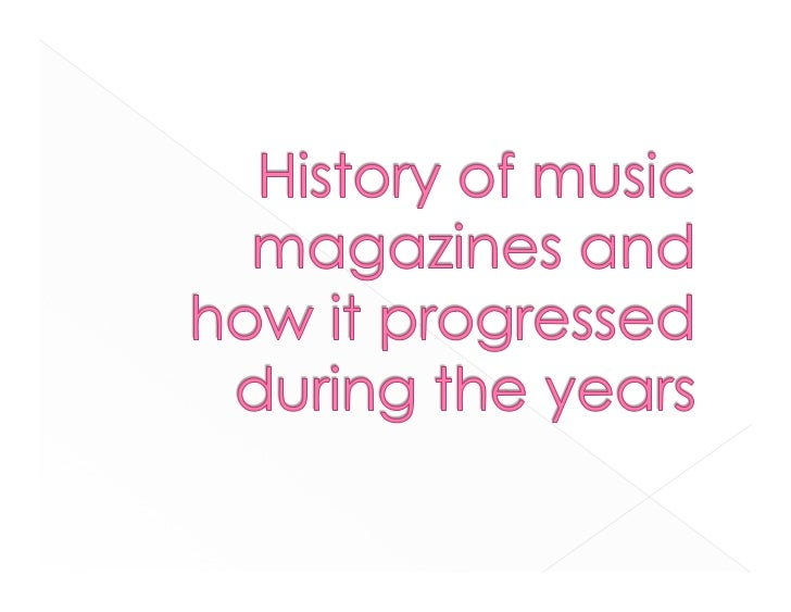 The Billboard magazine has an important role to the   development of music press, this magazine was one of the   publicati...