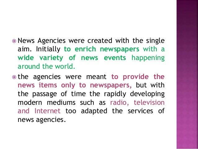 History of news agency Slide 3