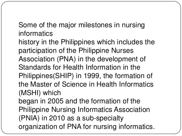 history of informatics essay Home ana periodicals ojin columns informaticsinformatics: where is it informatics: where is it working together with patients to document past history and.