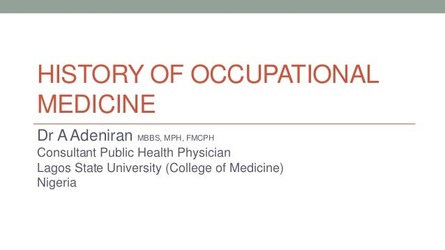 history of occupational health and safety Occupational health and safety ohs definition - occupational health and safety (ohs) relates to health, safety, and welfare issues in the workplace ohs.
