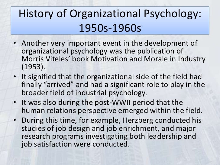 Organizational Psychology subjects
