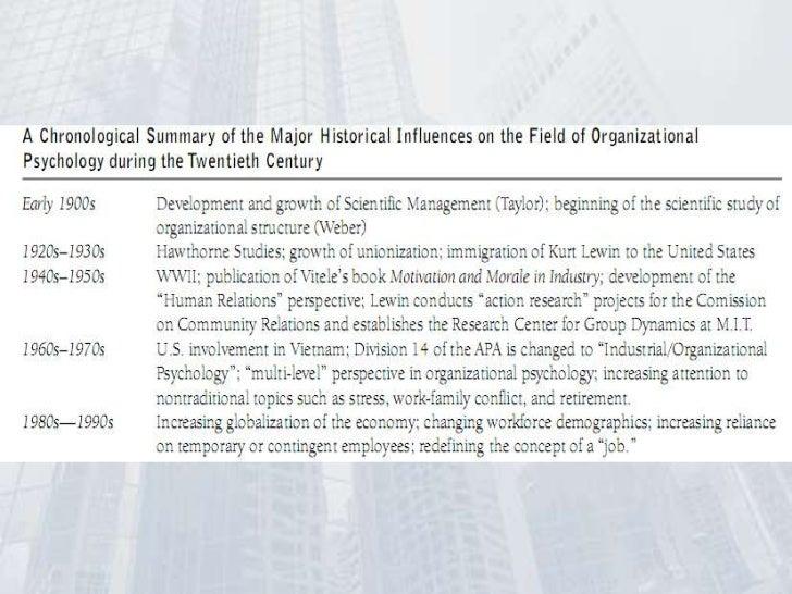 Industrial Organizational Psychologist >> History of organizational psychology