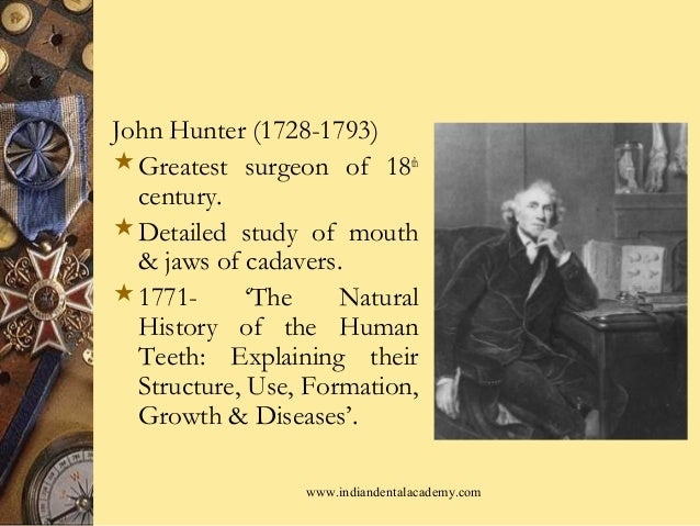 John Hunter Natural History Of Human Teeth