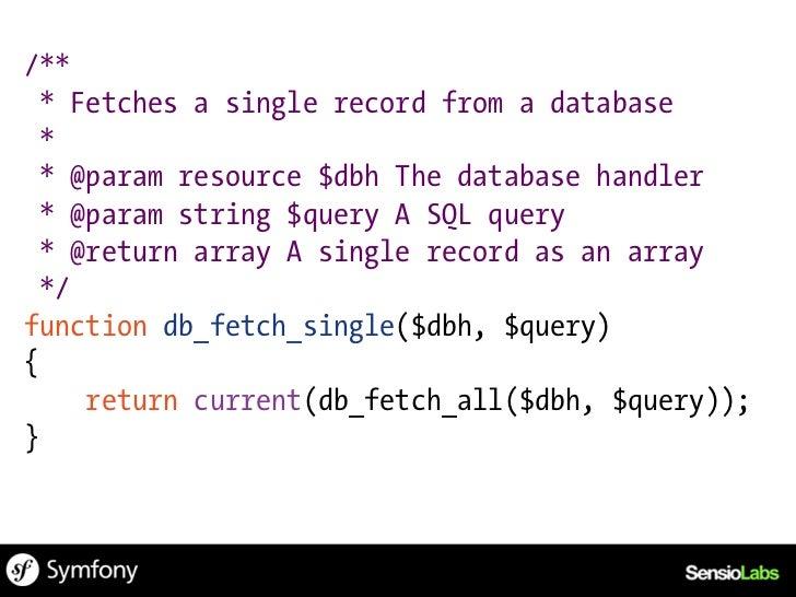function db_fetch_all($dbh, $query){    $result = mysql_query($query, $dbh);    if (!$result) {        die(Invalid query: ...